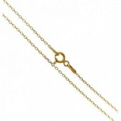 Cadena plata Ley 925m dorada forzada 45cm. grosor hilo 0.3mm. cierre reasa unisex [AC1223]