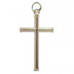 Cruz crucifijo oro 18k palo redondo [4886]