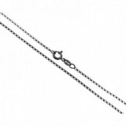 Cadena plata Ley 925m rodiada rolo 45cm. grosor hilo 0.25mm. cierre reasa unisex [AC1227]