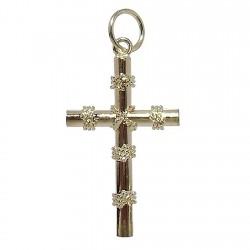 Cruz crucifijo oro 18k nudos [4891]