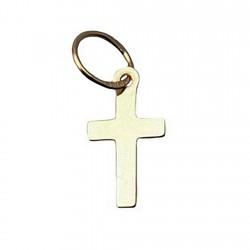 Cruz crucifijo oro 18k simple liso [4902]