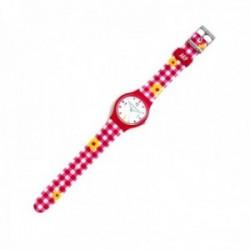 Reloj Agatha Ruiz de la Prada AGR231 colección Flip Vichy flores amarillas cuadros rosa [AC1577]