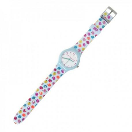 Reloj Agatha Ruiz de la Prada AGR234 colección Flip azul mariquitas colores esfera blanco [AC1580]