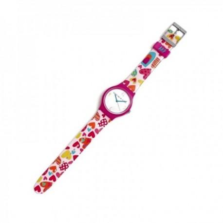 Reloj Agatha Ruiz de la Prada AGR238C colección Flip color love corazones esfera blanca [AC1586]