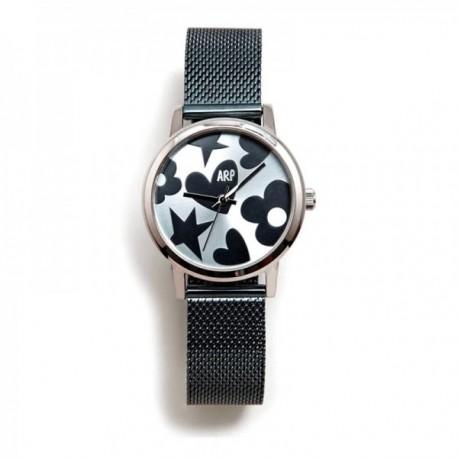 Reloj Agatha Ruiz de la Prada AGR250 colección Maya azul correa milanesa esfera brillante [AC1598]