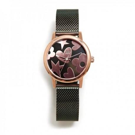 Reloj Agatha Ruiz de la Prada AGR252 colección Maya verde correa malla milanesa esfera brillante