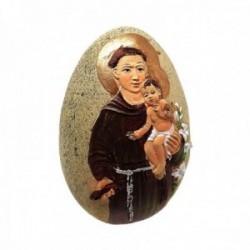 Figura piedra 70mm. San Antonio niño Jesús lirios ancho 60mm. [AC1522]