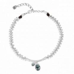 Gargantilla Unode50 Eclipse COL1343AZUMTL0U metal chapado plata cristales Swarovski® azul [AC1641]
