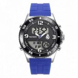 Reloj Real Madrid cadete RMD0014-55 azul analógico digital escudo esfera negra [AC1662]