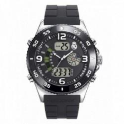 Reloj Real Madrid hombre RMD0010-54 negro analógico digital escudo [AC1663]