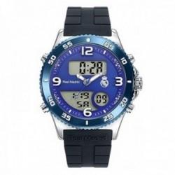 Reloj Real Madrid cadete RMD0014-35 negro analógico digital escudo esfera azul [AC1664]
