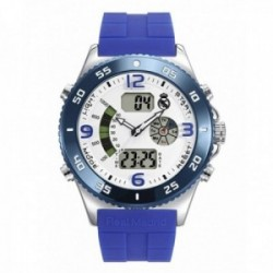 Reloj Real Madrid hombre RMD0010-04 azul analógico digital escudo esfera blanca [AC1665]