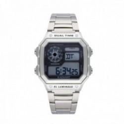 Reloj Radiant hombre Zuri digital RA505201 plateado esfera cuadrada [AC1691]