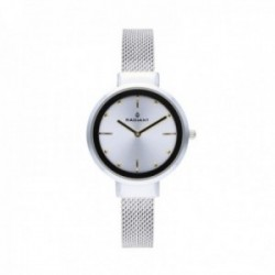Reloj Radiant mujer Iris Silver Gold RA510603 pulsera malla milanesa esfera plateada [AC1697]