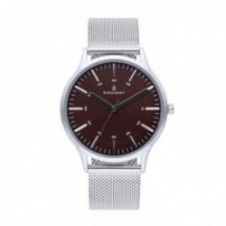 Reloj Radiant hombre Roadster Brown Silver RA516602 esfera marrón pulsera malla milanesa [AC1698]