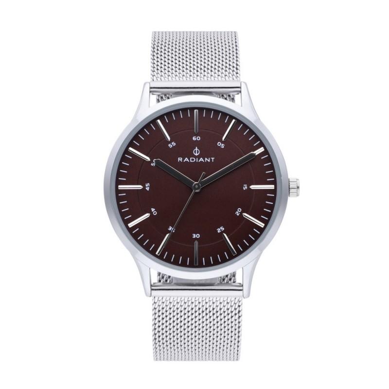 mejor gran venta estilo de moda de 2019 Reloj Radiant hombre Roadster Brown Silver RA516602 esfera marrón pulsera  malla milanesa [AC1698]