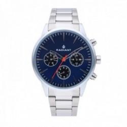 Reloj Radiant hombre Golem Blue Silver RA518201 multifunción pulsera acero inoxidable [AC1699]