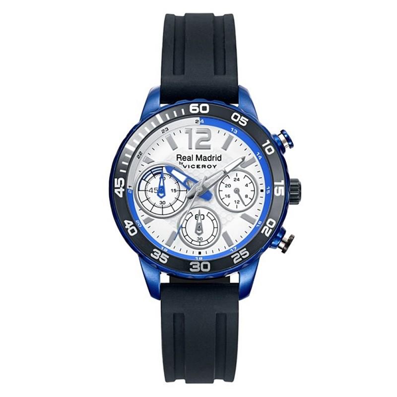 2b765934e0ac Reloj Real Madrid Viceroy 40962-05 cadete negro azul silicona agujas  luminiscentes. Loading zoom