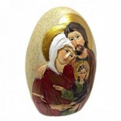 Figura icono Sagrada Familia alto 70mm. ancho 60mm. resina sintética ovoidal