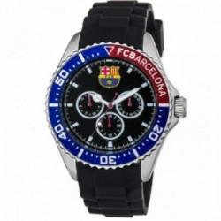 Reloj F.C. Barcelona Radiant Premium BA01701 negro correa caucho esfera escudo detalles azul rojo