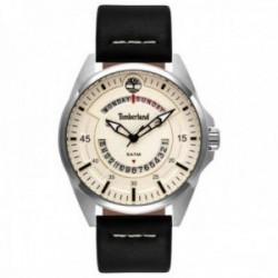 Reloj Timberland hombre Lakeville Beige Black 15519JS-07 acero inoxidable correa piel