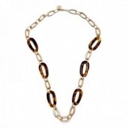 Collar Pertegaz colección Carey cadena 90cm. mujer motivos eslabones dorados carey