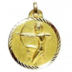 Colgante oro 18k horoscópo Sagitario medalla [85]