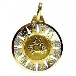 Colgante oro 18k horoscópo Cáncer medalla [89]