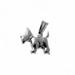 Colgante plata Ley 925m. motivo perro 15mm.