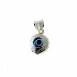 Colgante plata Ley 925m. motivo ojo turco 7mm. detalle greca