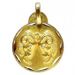 Colgante oro 18k horoscópo Aries medalla [648]