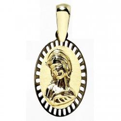 Medalla oro 18k Virgen Nina [4910]