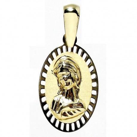 Medalla oro y plata Virgen Niña [4910]