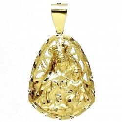 Colgante oro 18k medalla Virgen del Carmen [95]