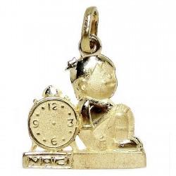 Colgante oro 18k niño reloj [283]