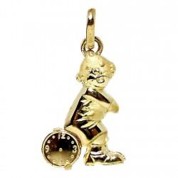Colgante oro amarillo 18k payaso reloj 20mm. niño