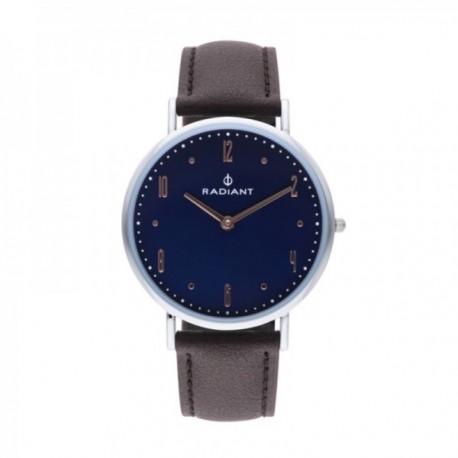 b3a3819e63bd Reloj Radiant hombre Jensen Blue Brown RA515603 correa piel detalles esfera  rosados