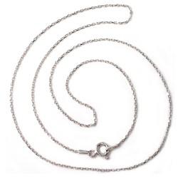 Cadena plata Ley 50 cm. forzada [5218]