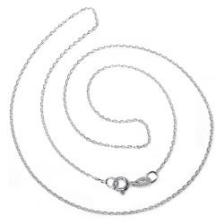 Cadena plata Ley 45 cm. forzada ligera [5372]