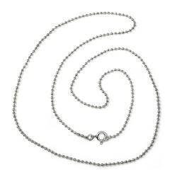 Cadena plata Ley 925um bola diamantada 1mm. 40-50 cm. [5739]