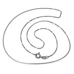 Cadena plata Ley 925m rodiada 50cm. veneciana unisex cierre reasa