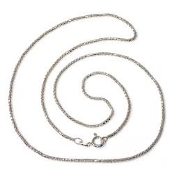 Cadena plata Ley 925m 50 cm. veneciana ancho 1.58mm. unisex cierre reasa