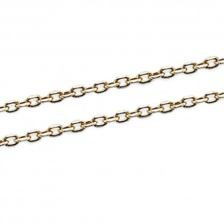Cadena oro 18k forzada 50cm. 1mm. 2,40gr. [7090]