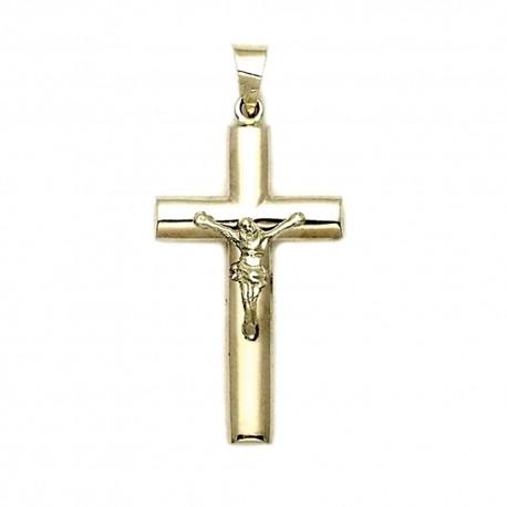 Cruz crucifijo oro 9k colgante Cristo 25mm. hueco oval [7250]
