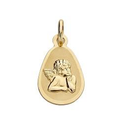 Medalla oro 18k Ángel burlón 17mm. forma lágrima
