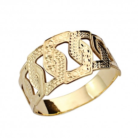 Sortija oro 18k tallada calada [AA0460]