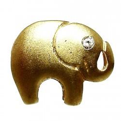 Colgante oro 18k elefante circonita [295]