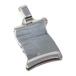 Chapa plata Ley 925m pergamino 25mm. [AB5608]