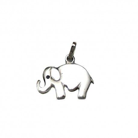 Colgante plata Ley 925m silueta elefante liso 17mm. [AB4123]