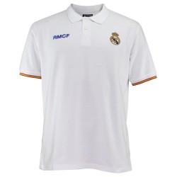 Polo Real Madrid adulto blanco escudo bordado [AB3912]